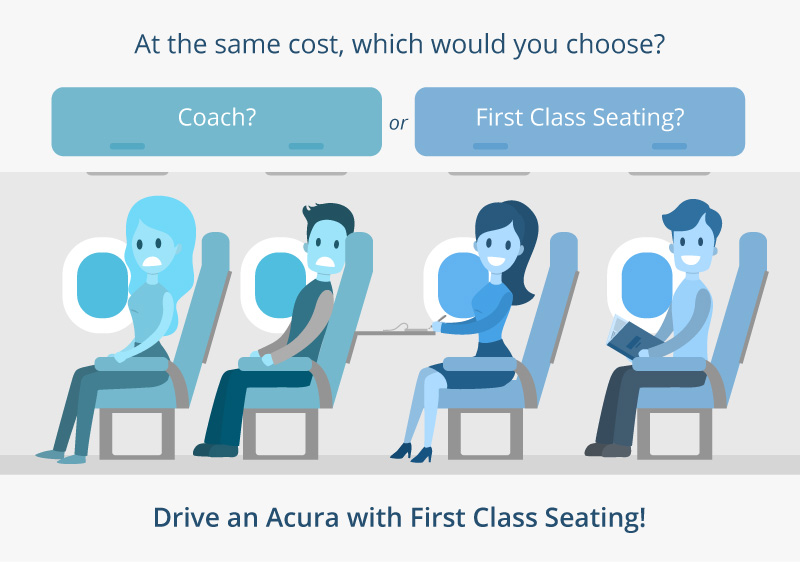 For first class seating, drive an Acura!