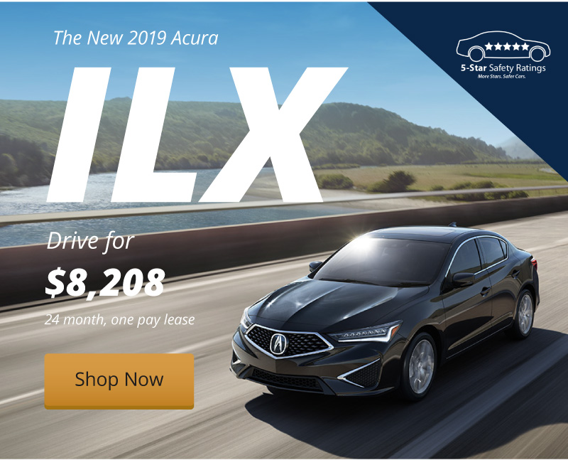 Lease the New 2019 ILX for $8,208 with our 24 month, one pay lease.