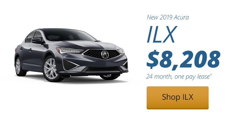 Lease a New 2019 Acura ILX under our 24 month, one pay lease for $8,208
