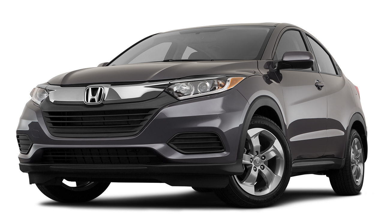 2019 Honda HR-V LX Front Drivers Side Angle In Black