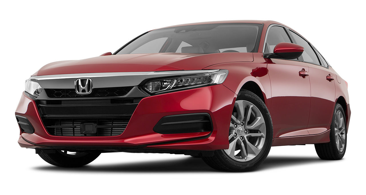 2018 Honda Accord LX Front Drivers Side Angle in Red