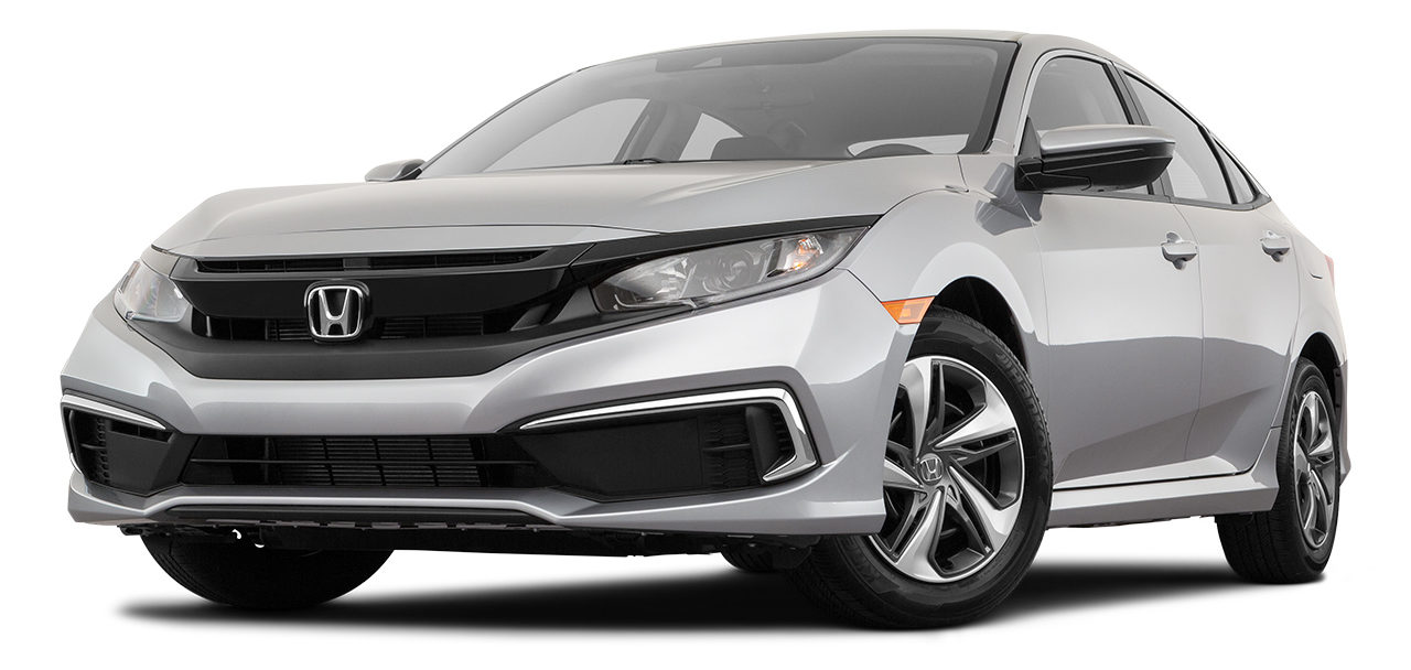 2019 Honda Civic LX Front Driver Side in Silver