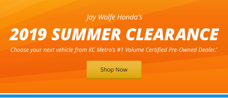 Jay Wolfe Honda\'s 2019 Summer Clearance is on!
