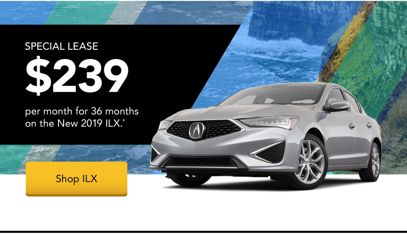 Lease a New 2019 ILX for $239 per month for 36 months