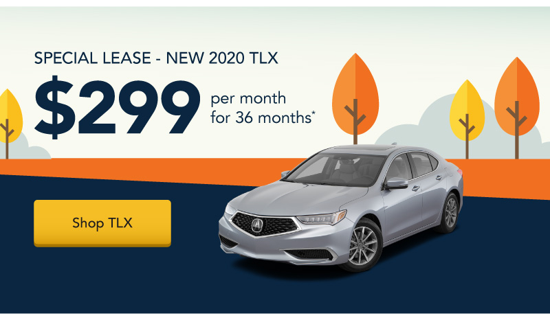 Lease a New 2020 TLX for $299 per month for 36 months