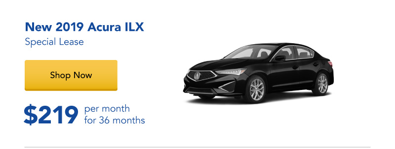 Lease a New 2019 ILX for $219 per month for 36 months
