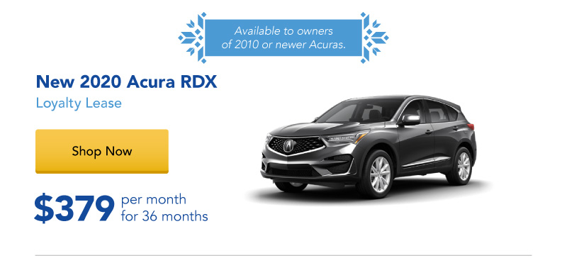 Lease a New 2020 RDX for $379 per month for 36 months