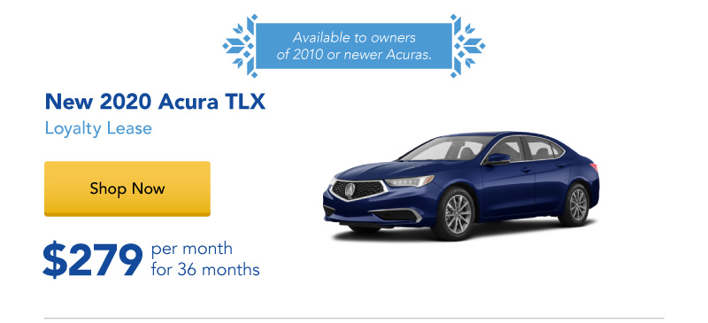 Lease a New 2020 TLX for $279 per month for 36 months