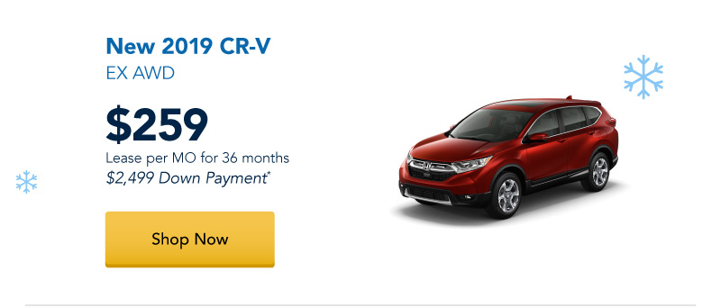 Lease a New 2019 CR-V EX AWD for $259 per month for 36 months