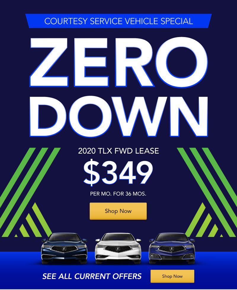 New 2020 TLX FWD lease for $349 per month for 36 months