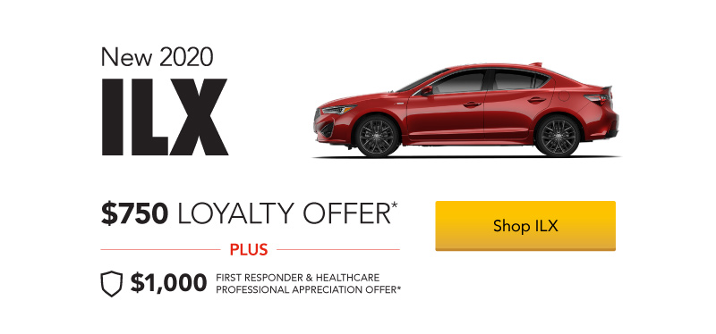 Acura ILX $750 Loyalty Offer