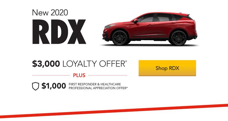 Acura RDX $3,000 Loyalty Offer