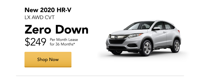 New 2020 HR-V LX AWD CVT lease