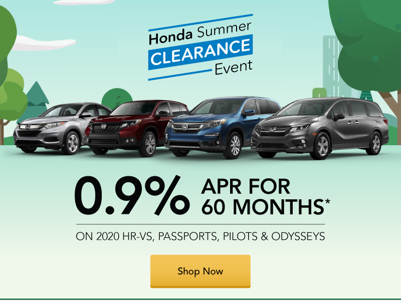 Truck Ad - July 0.9% APR on 2020 HR-Vs, Passports, Pilots and Odysseys