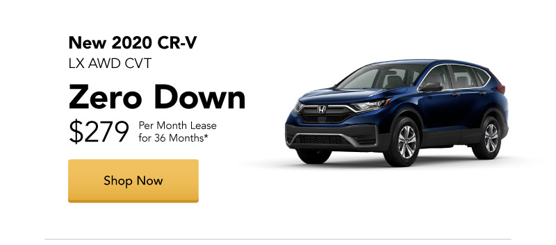 New 2020 CR-V LX AWD CVT lease