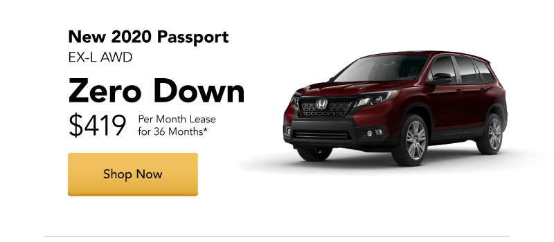New 2020 Passport EX-L AWD Lease