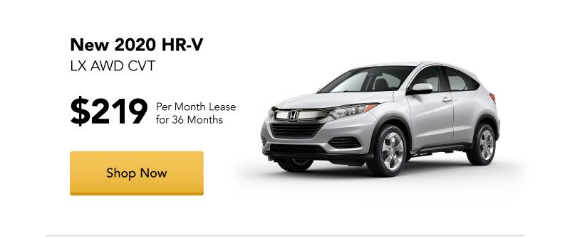 New 2020 HR-V LX AWD CVT lease