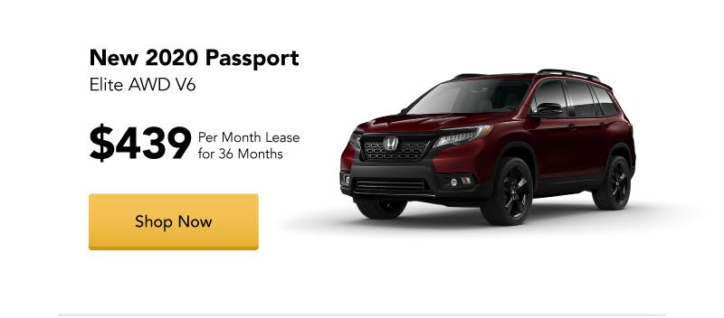 New 2020 Passport Elite AWD V6 Lease