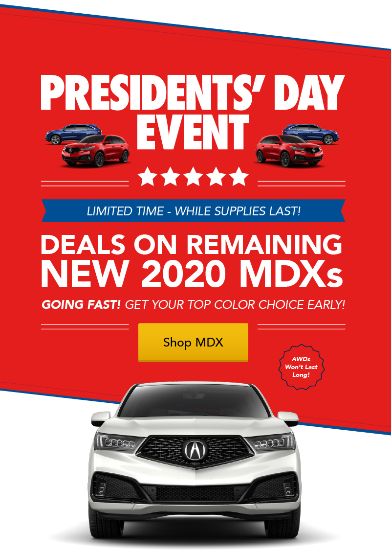Acura MDX APR + Loyalty / Conquest Offer - Hero