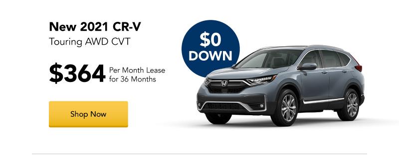 New 2021 CR-V Touring AWD CVT lease