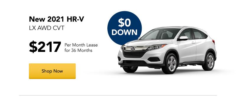 New 2021 HR-V LX AWD CVT lease