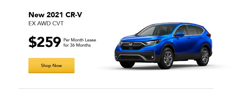 New 2021 CR-V EX AWD CVT lease