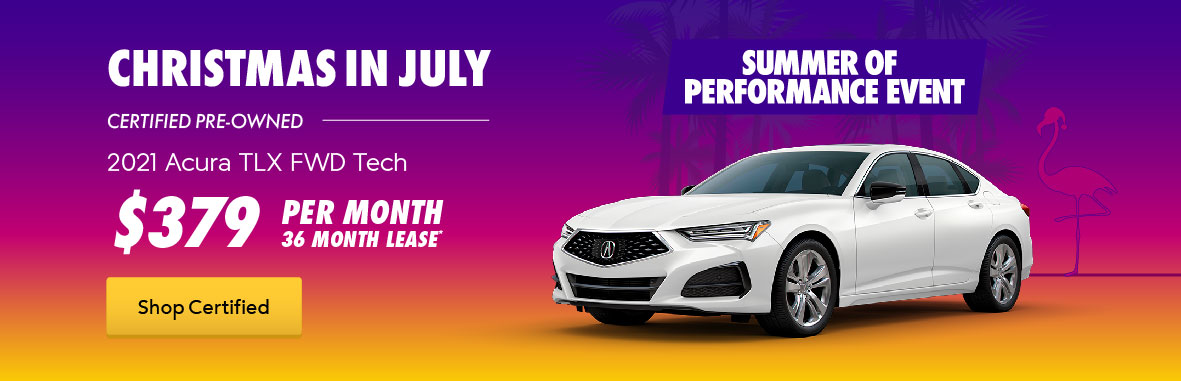 Acura Christmas in July CPO TLX Lease