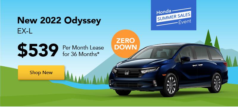 SUV, Van Ad - Honda Summer Sale - New 2022 Odyssey Special