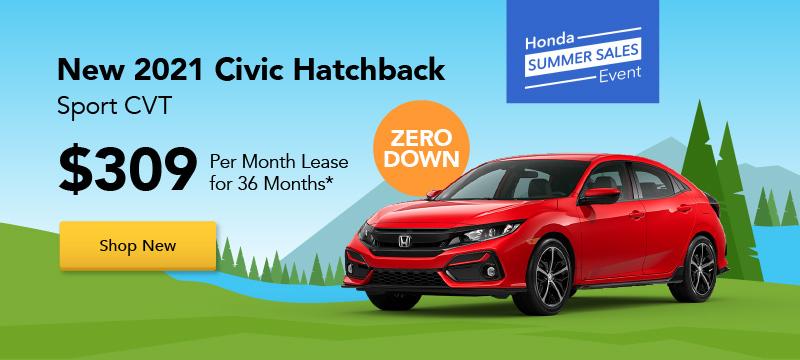 Car Ad - Honda Summer Sale - New 2021 Civic Special